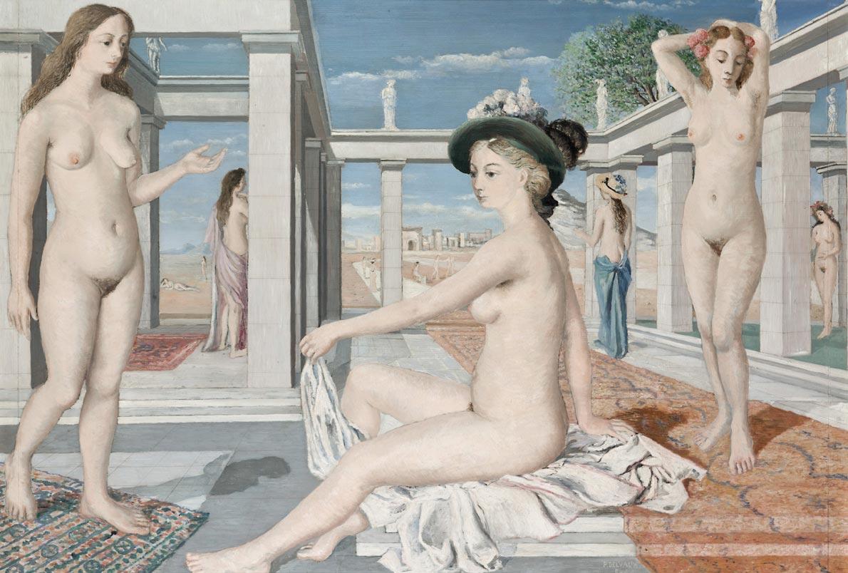Paul Delvaux - Les Courtisanes