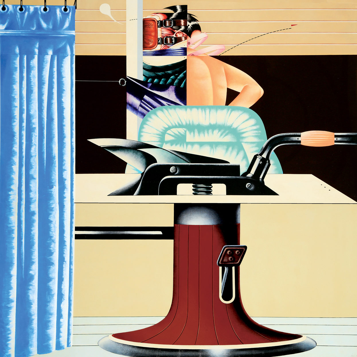 Sergio-Sarri,-Gabinetto-d'analisi-n-2,-1971,-acrilico-su-tela