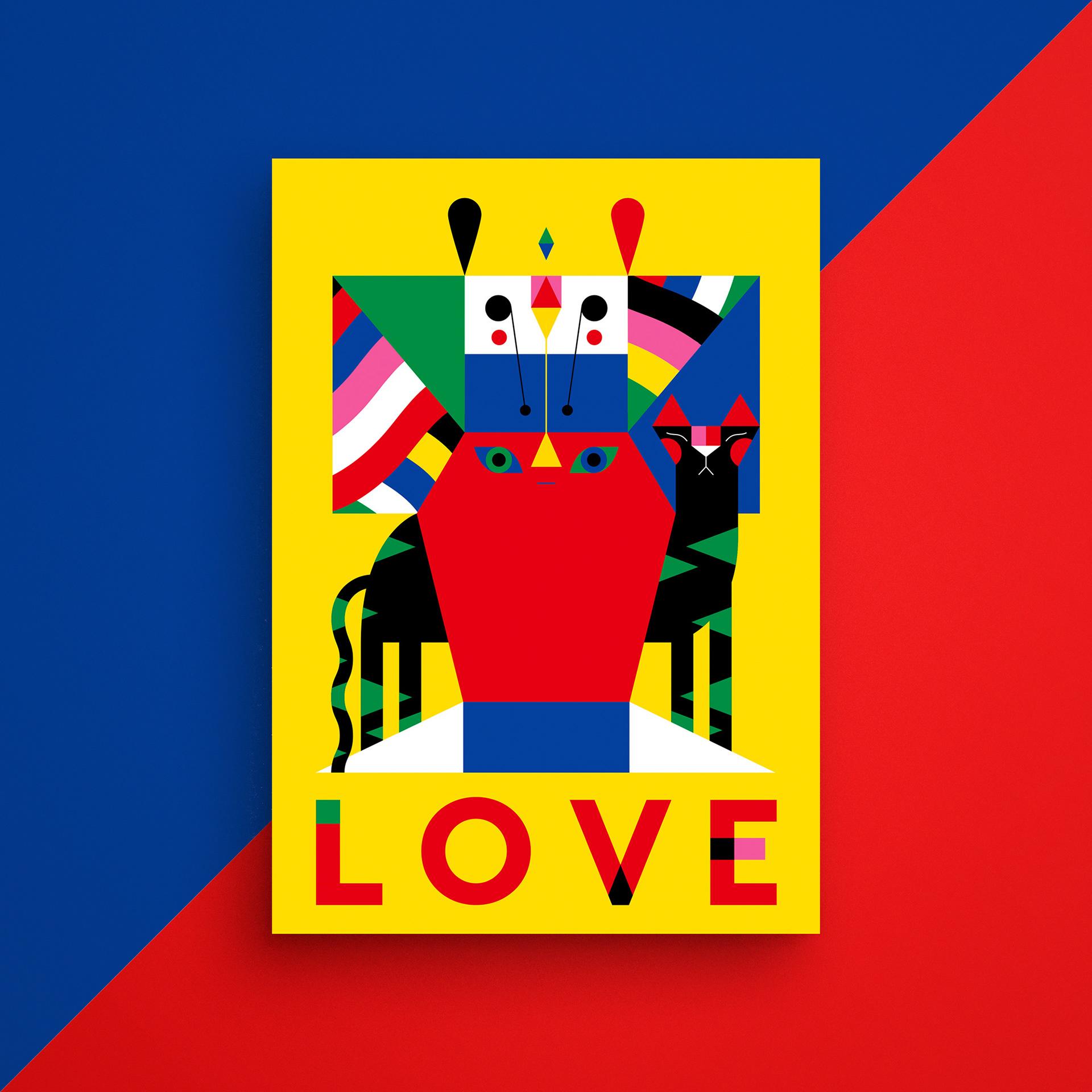 immagine della bozza iniziale di LOVE, il progetto grafico di Camilla Falsini con lo studio Kreativehouse