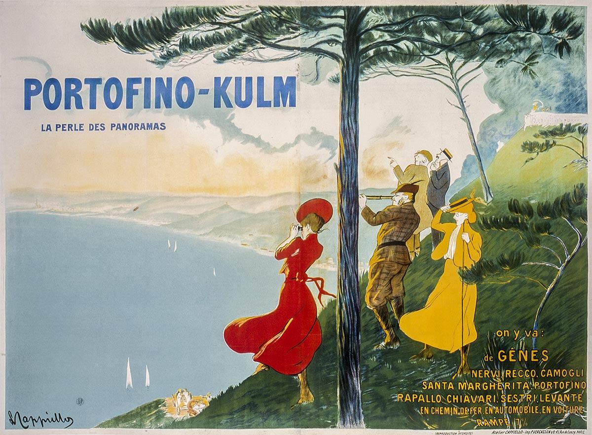 poster vintage del viaggio in italia
