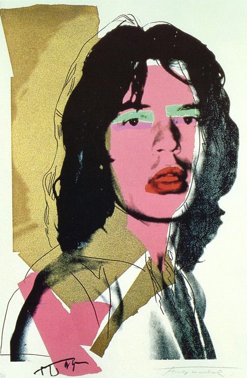 pop art icon mick jagger